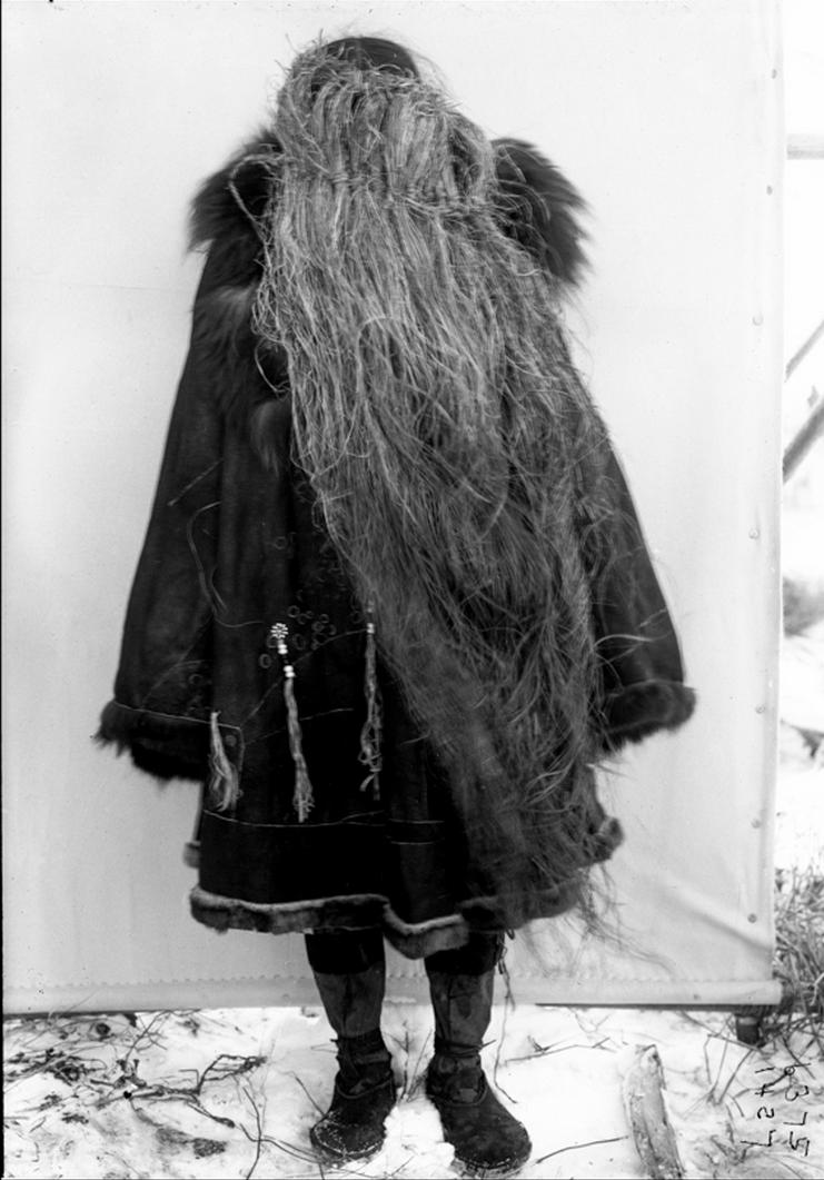 Корячка в травяной маске. 1900