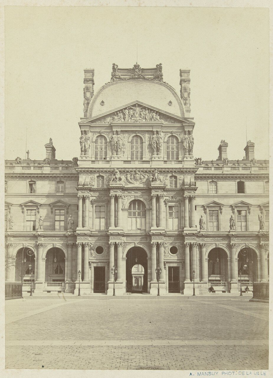 1860-е. Павильон в Лувре
