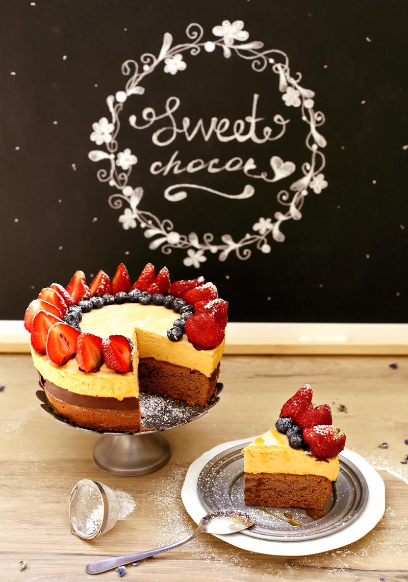 Торт Шоколад и Клубника - простой пошаговый рецепт с фото #1.