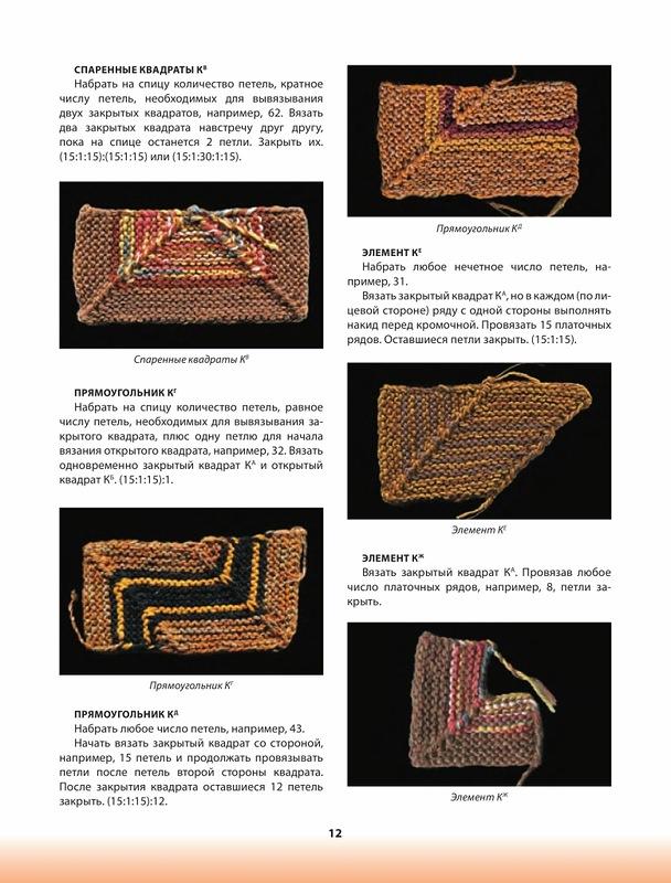 Вязание квадратов на спицах 68