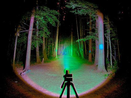 Фотография-Бимшот сцены в HDR, со светом нескольких фонарей: