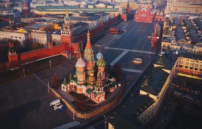 Собор Василия Блаженного (фото с помощью беспилотника)