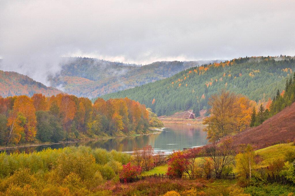 Осень на реке Уфа