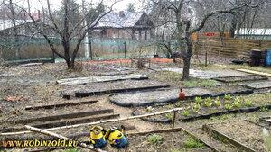 Огород ранней весной