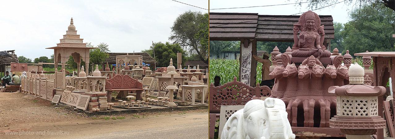 Фото 1. Поездка к Тадж-Махалу. В мастерских по резке камня по дороге в город Агра. Рассказы туристов о путешествии в Индию.