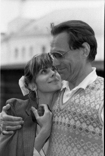 Режиссер Андрей Михалков-Кончаловский и актриса Настасья Кински.1987 год.