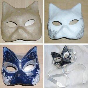 карнавальная маска кота своими руками - В помощь Самоделкину