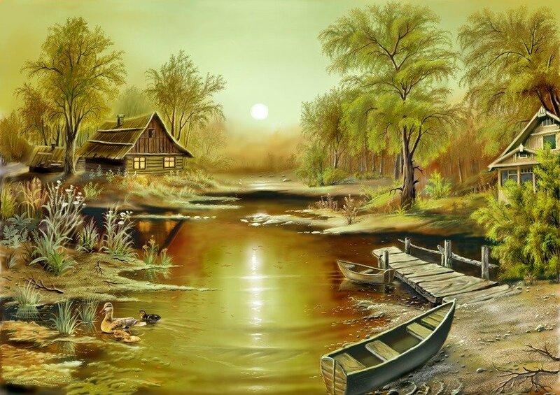 Времена года в работах Цыганова Виктора, графика в Adobe Photoshop и 3DSMax