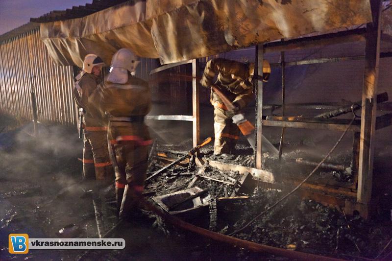 2011.10.23 Сгорела бытовка по ул.Сиреневая