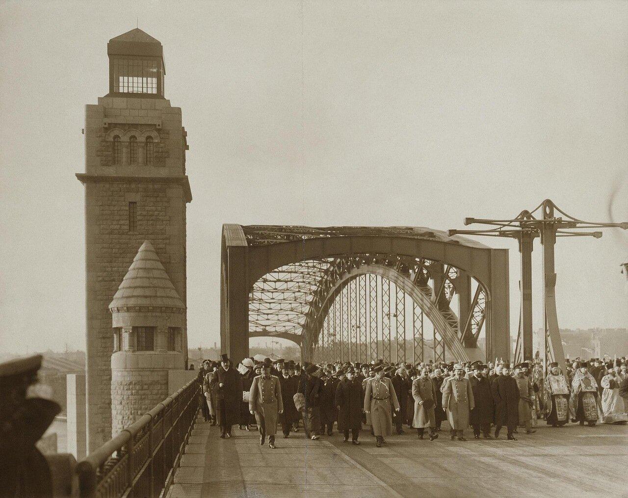 Открытие моста имени Петра Великого (Большеохтинского).1911