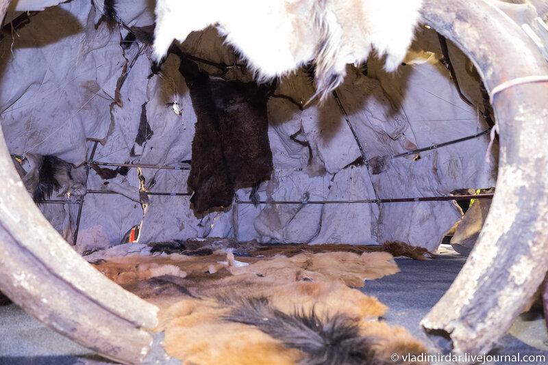 Внутри жилища охотников на мамонтов