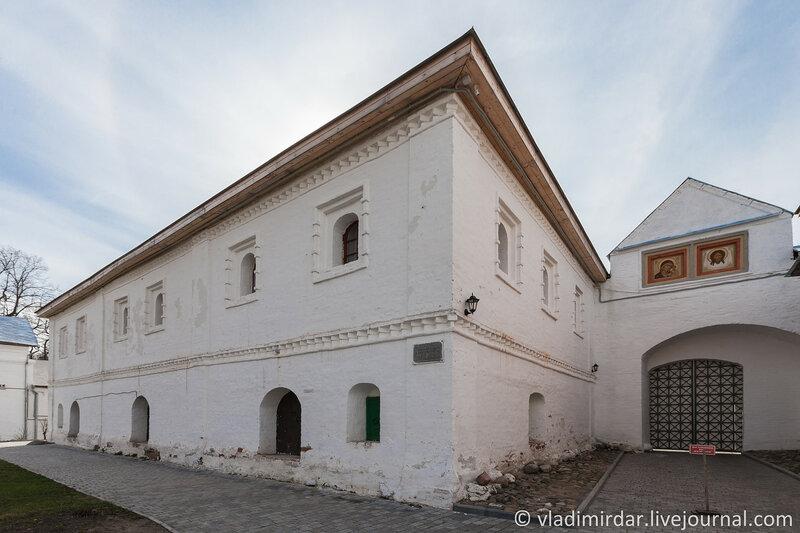 Кельи над погребами. Ипатьевский монастырь. Кострома.