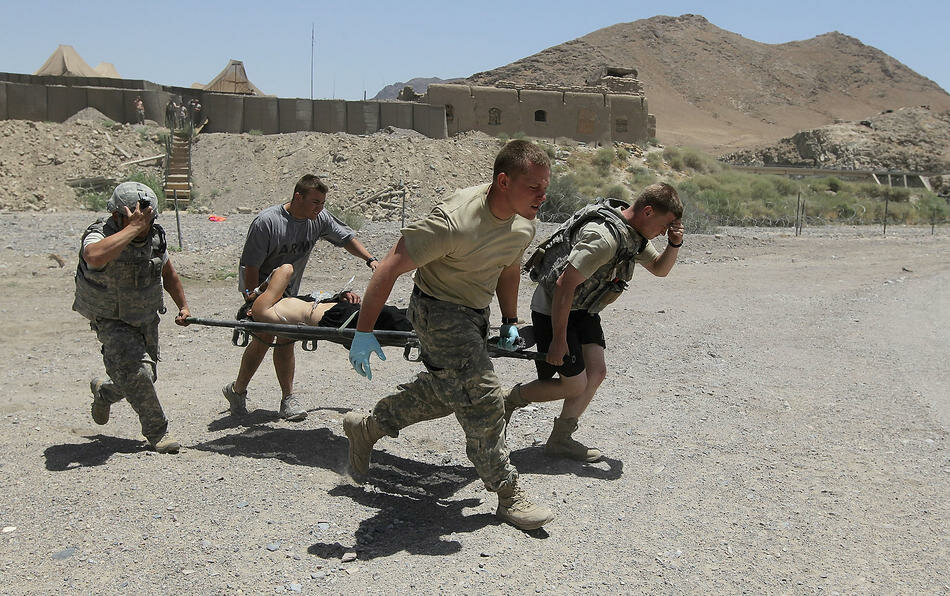 US Army Medevac Tends To The Wounded In Afghanistan
