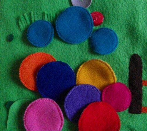 Развивающий коврик. Активные элементы - сменные колеса (8 цветов)