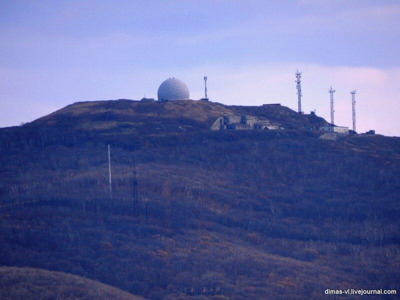 Форт №2. Вид с форта №6 Владивостокской крепости. 17-октября-2011г