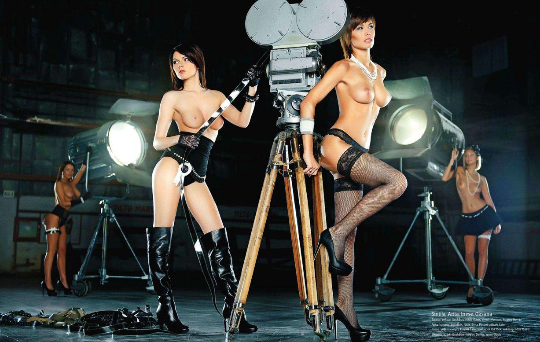 1-я годовщина журнала Playboy Латвия, октябрь 2011 - Синтия, Арита, Инесе и Оксана