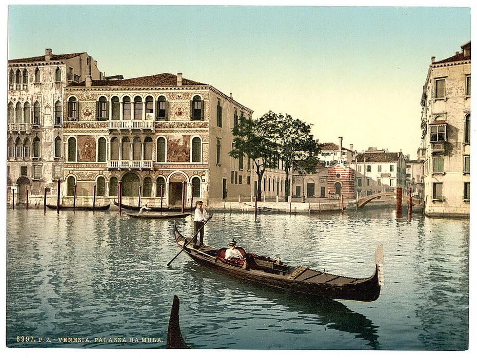 Фото 33, Колоризированные фотографии Венеции конца 19 века (34...
