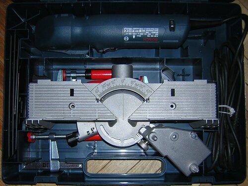 Bosch GFS 350 E — укладка в кейсе
