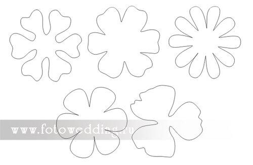 Цветов для декора своими руками шаблоны