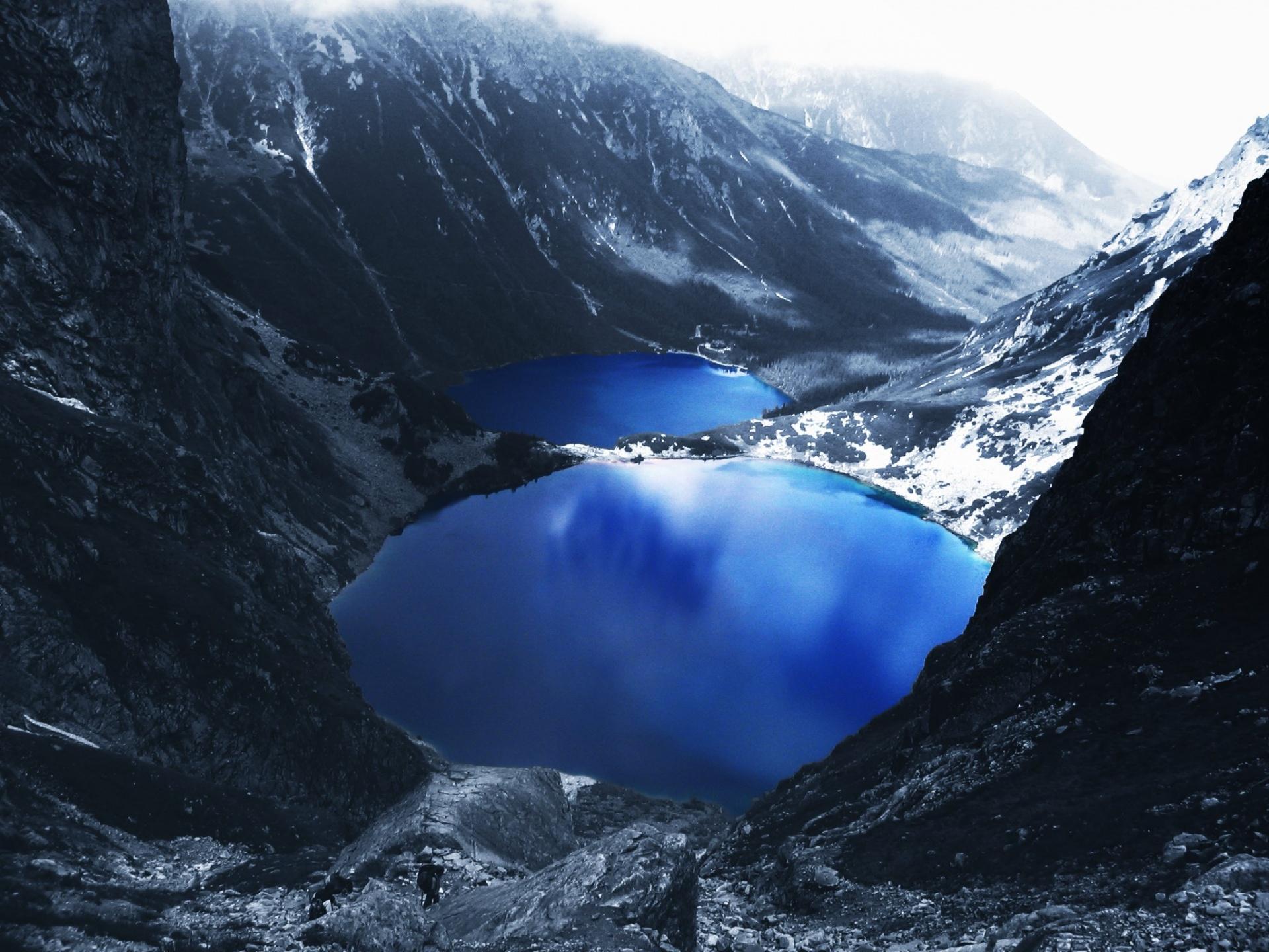 Голубое озеро в горах  № 2798886 без смс