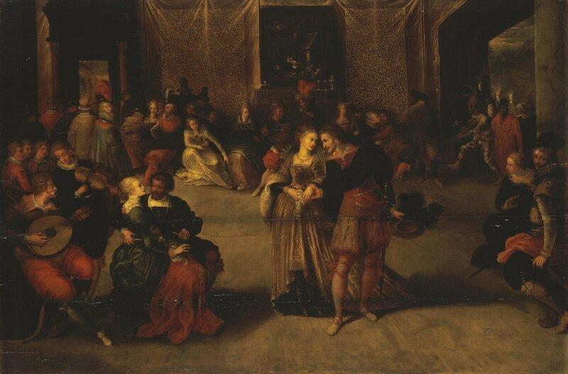 Франс Франкен, Бал, 1620 г., Эрмитаж