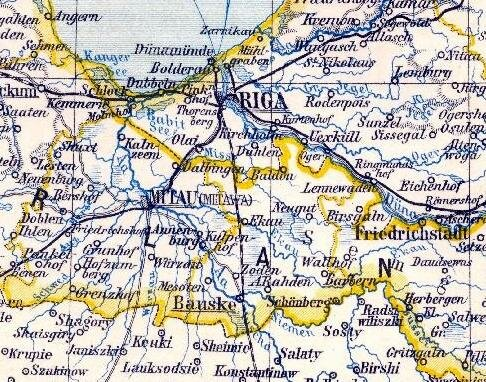 Карта начала ХХ в.