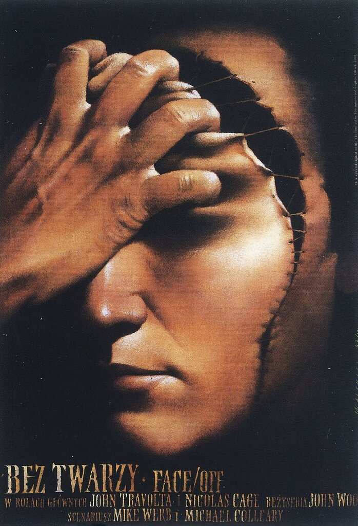 Polish Film Poster Face Off Wieslaw Walkuski