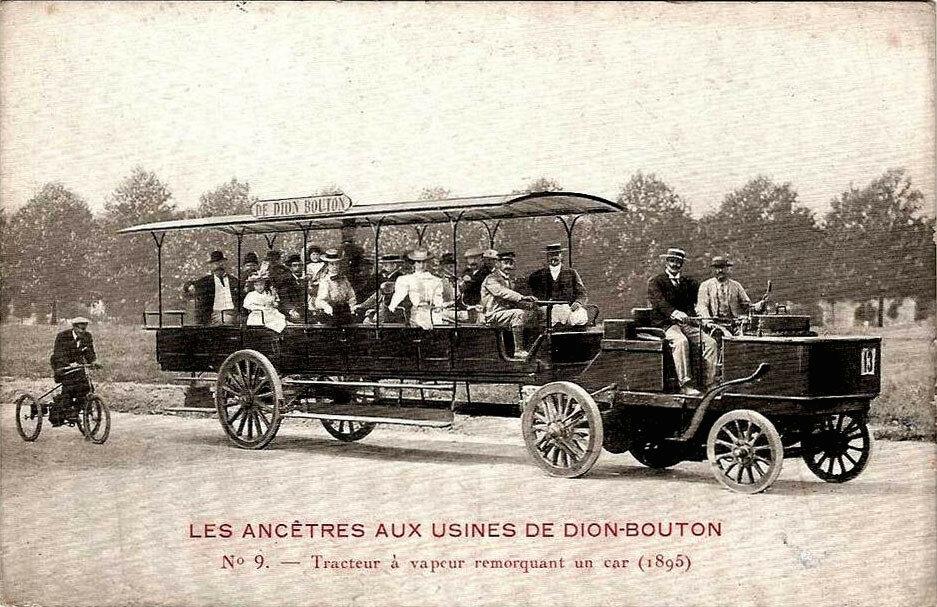 Паровой автобус с паровым автомобилем-тягачем Де Дион-Бутон.jpg