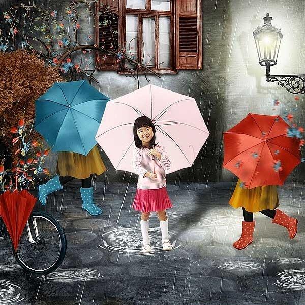 прогулки под дождем
