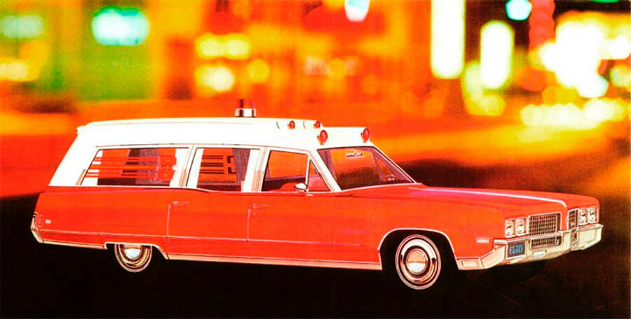 1970 Cotner-Bevington Ambulances with Ninety Eight chassis by Oldsmobile.jpg
