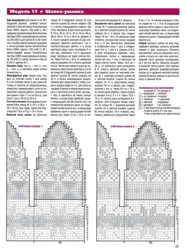 Схемы для вязания женских шапок с козырьком.