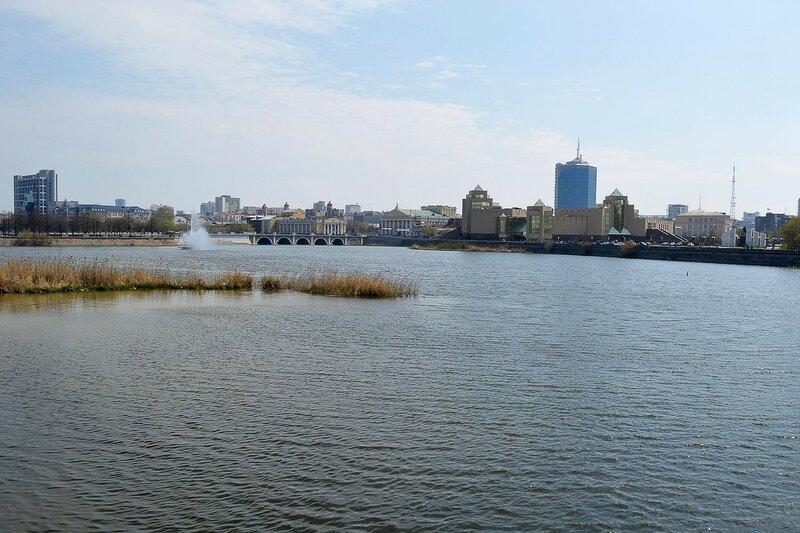 Городской пейзаж. Набережная р. Миасс