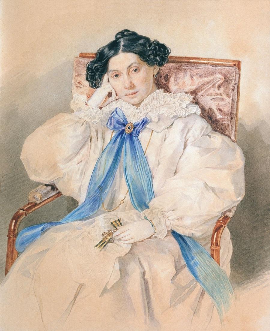 Соколов Петр Федорович Портрет Е.М.Хитрово  1838.jpg