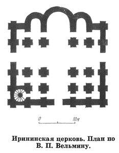 Иринская церковь в Киеве, план