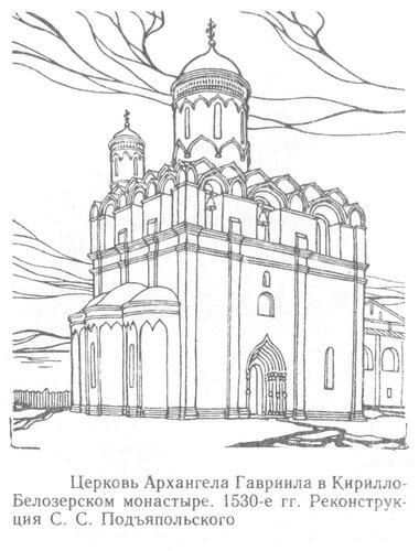 Церковь Архангела Гавриила в Кирилло-Белозерского монастыря, Реконструкция С.С. Подъяпольского