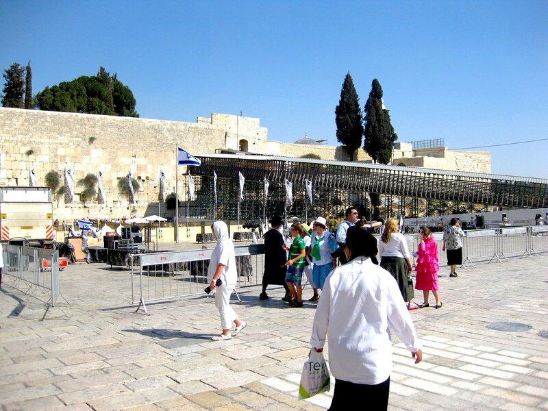 Площадь у Западной Стены Плача в Старом городе Иерусалима