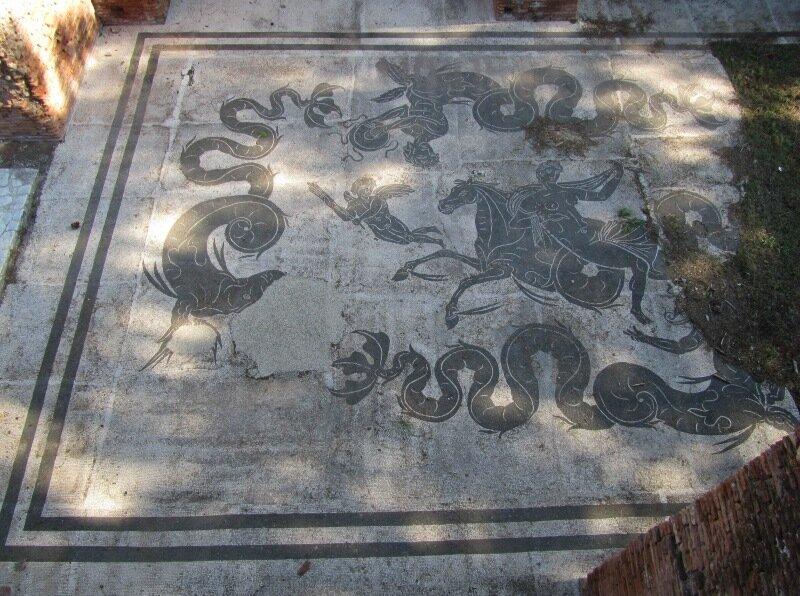 Остия. Мозаики терм Нептуна