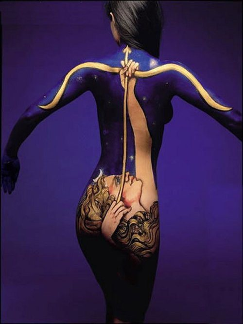 Человеческое тело в качестве холста