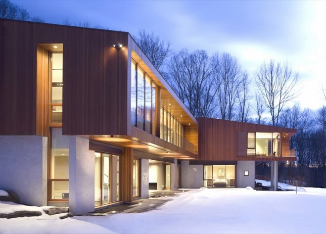 Brigde House от Joeb Moore + Partners Architects в Коннектикуте