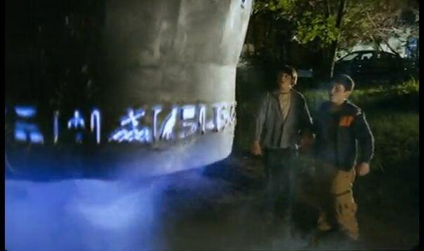"""Хитровка в кадрах из фильма """"Азирис Нуна"""". 2006 год. Взлёт Хроноскафа во дворе дома Телешова."""