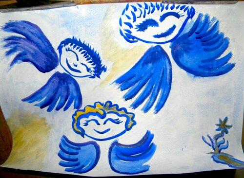 Ангелы (рис.Лена Воронова)