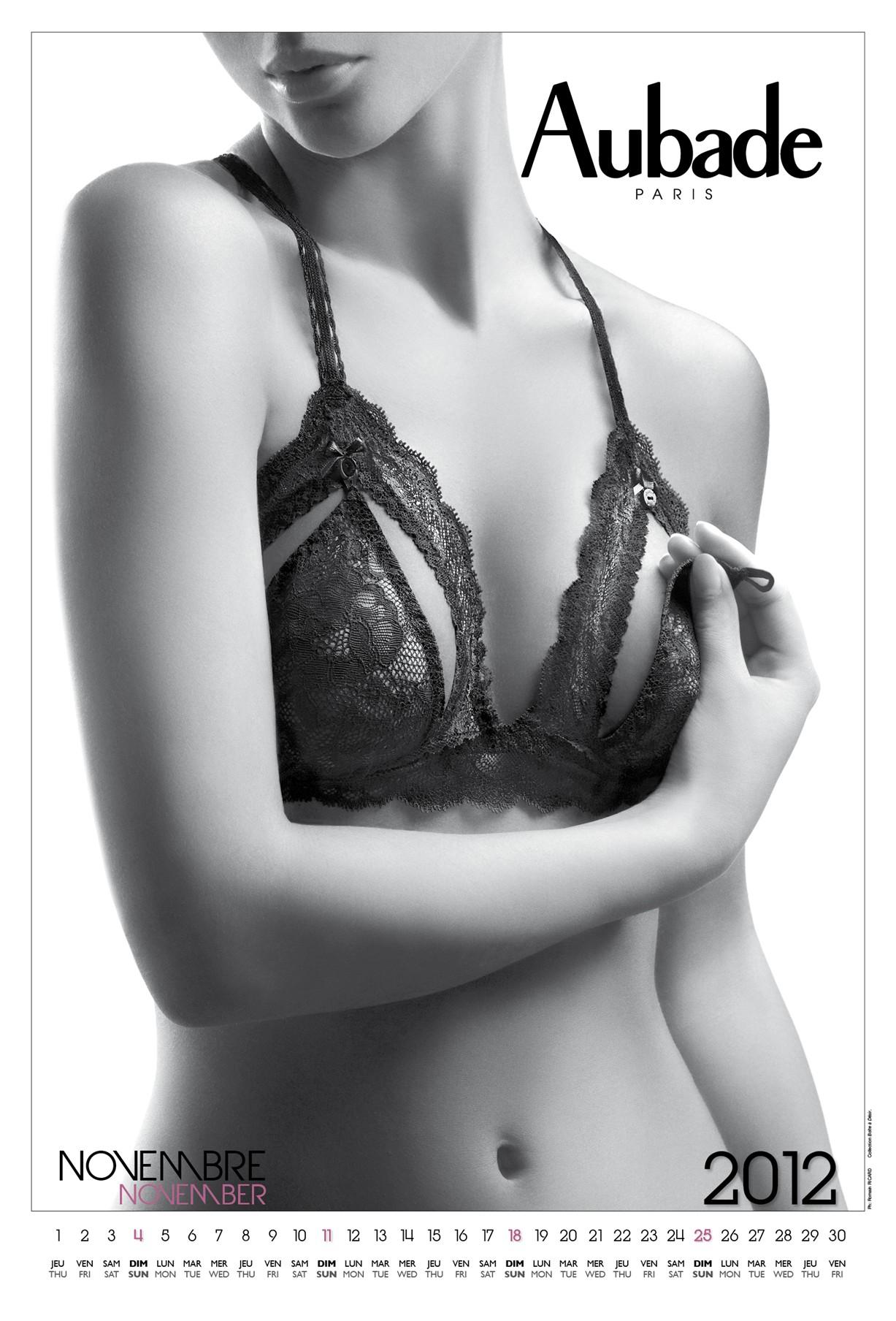 нижнее белье Aubade - календарь на 2012 год
