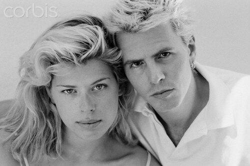 Amanda de Cadenet with John Taylor