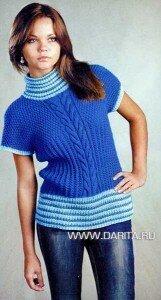 Вязаный свитер схема