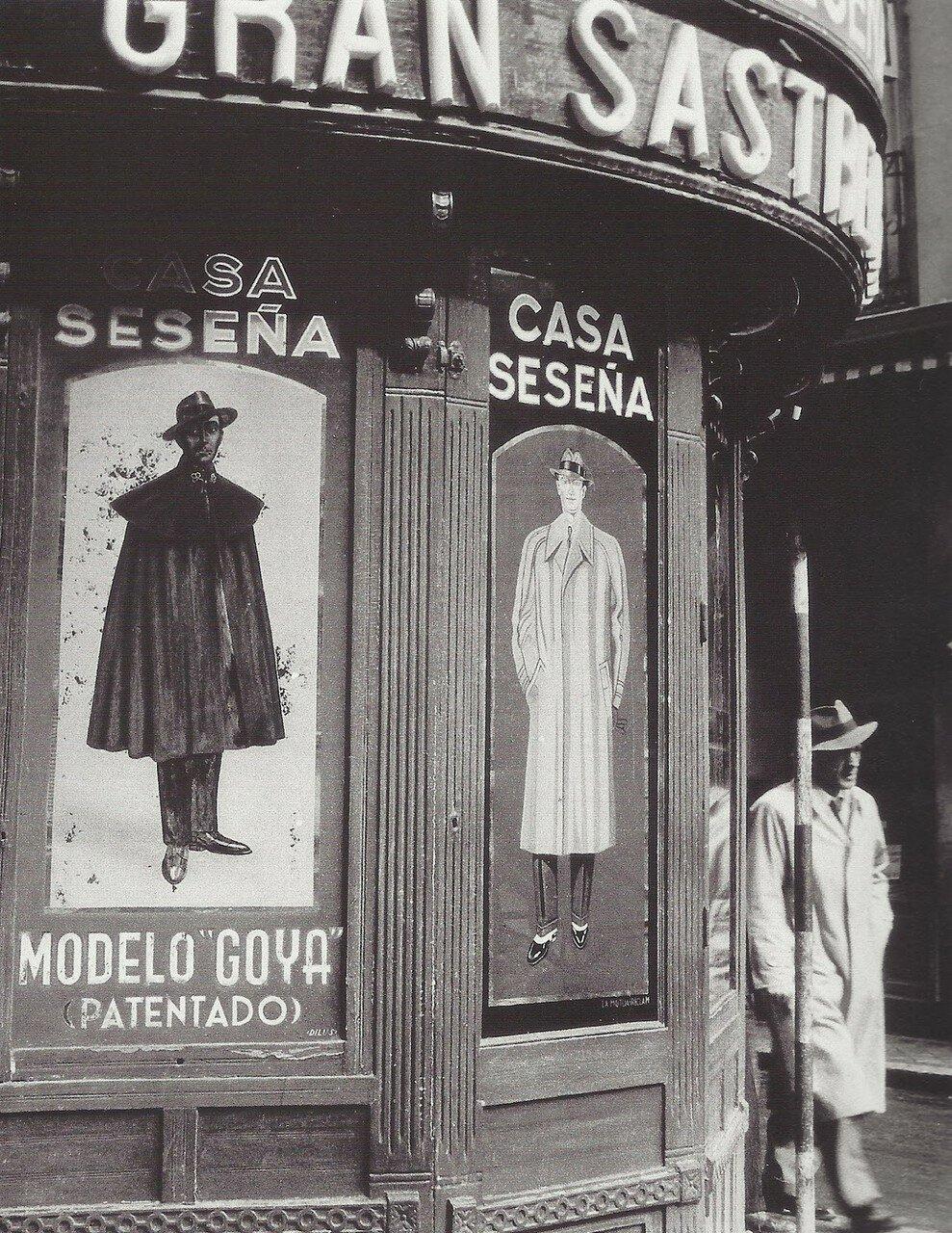1950. Мадрид. Фасад портновской мастерской