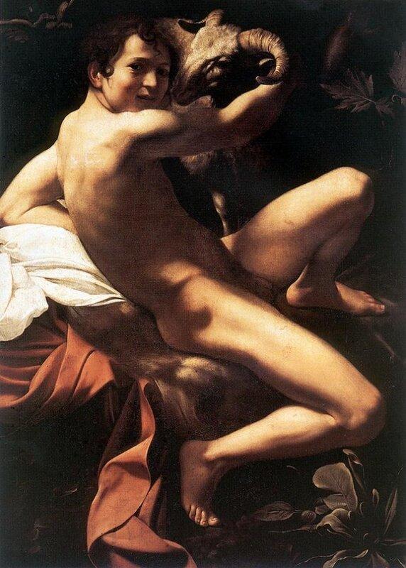 John the Baptist, 1602, (Youth with a Ram), Michelangelo Merisi da Caravaggio, Doria Pamphilj Gallery, Rome