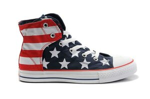 Cool style makes the Converse American Flag Navy Blue Red White High...