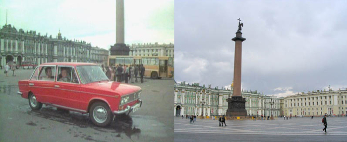 1. Итак, наши герои приезжают в Ленинград. И сразу попадают в центр города. Первое, что они видят, —