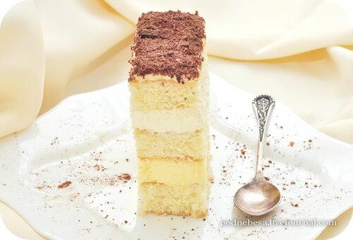 бисквитный торт шантили рецепт