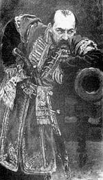На портрете работы Ильи Репина, известном под названием «Гетман», изображен В. В. Тарновский-младший...